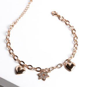 Callel Rose Gold Color Star Charm Bracelet