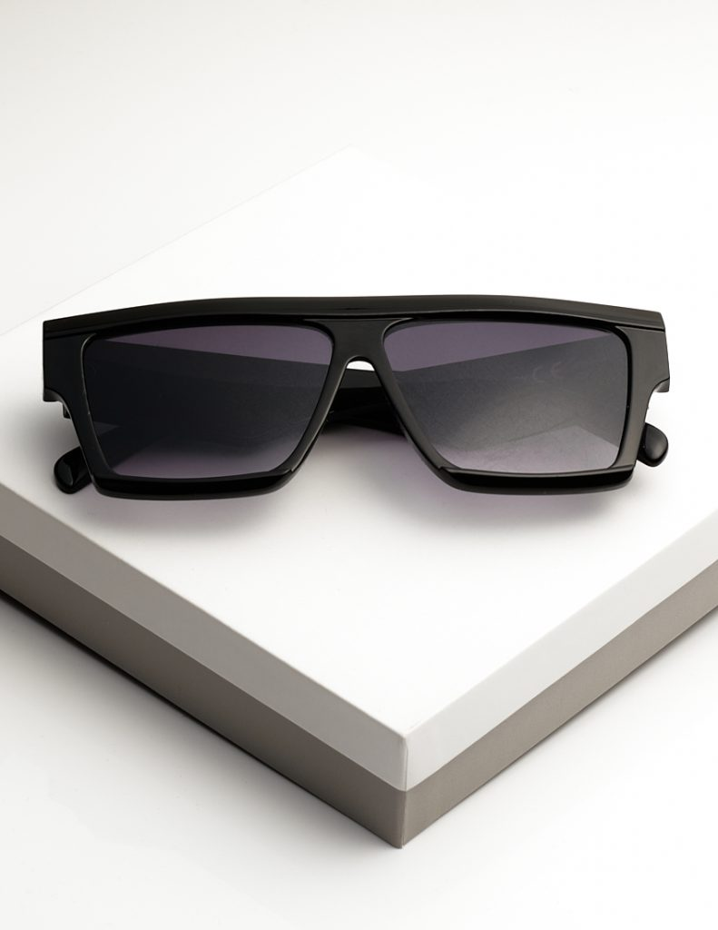 Callel Flat Top Square Frame Sunglasses