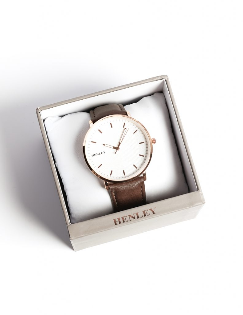 Callel Henley Classic Brown Stainless Steel Mens Watch