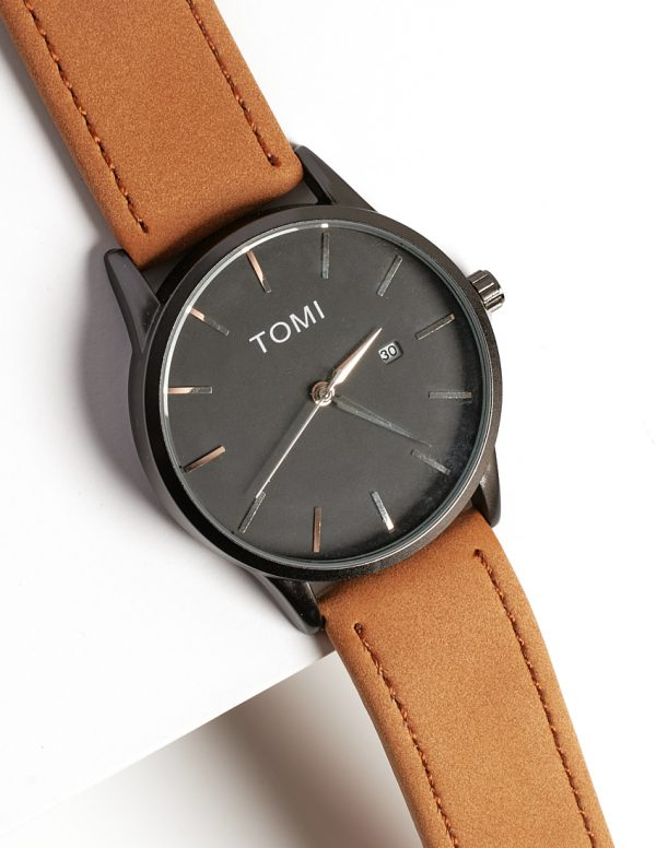 Callel Tomi Classic Brown And Black Mens Watch