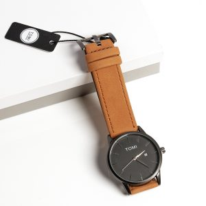 Tomi Classic Brown And Black Mens Watch