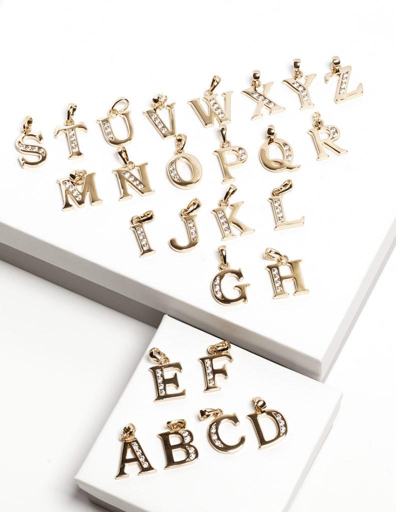 Callel 14K Gold Color Initial Aphabet Letter Pendant