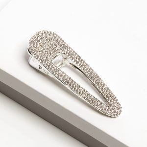 Silver Diamante Oversized Hair Clip