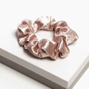 Luxury Pink Satin Hair Scrunchie