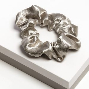 Luxury Grey Satin Hair Scrunchie