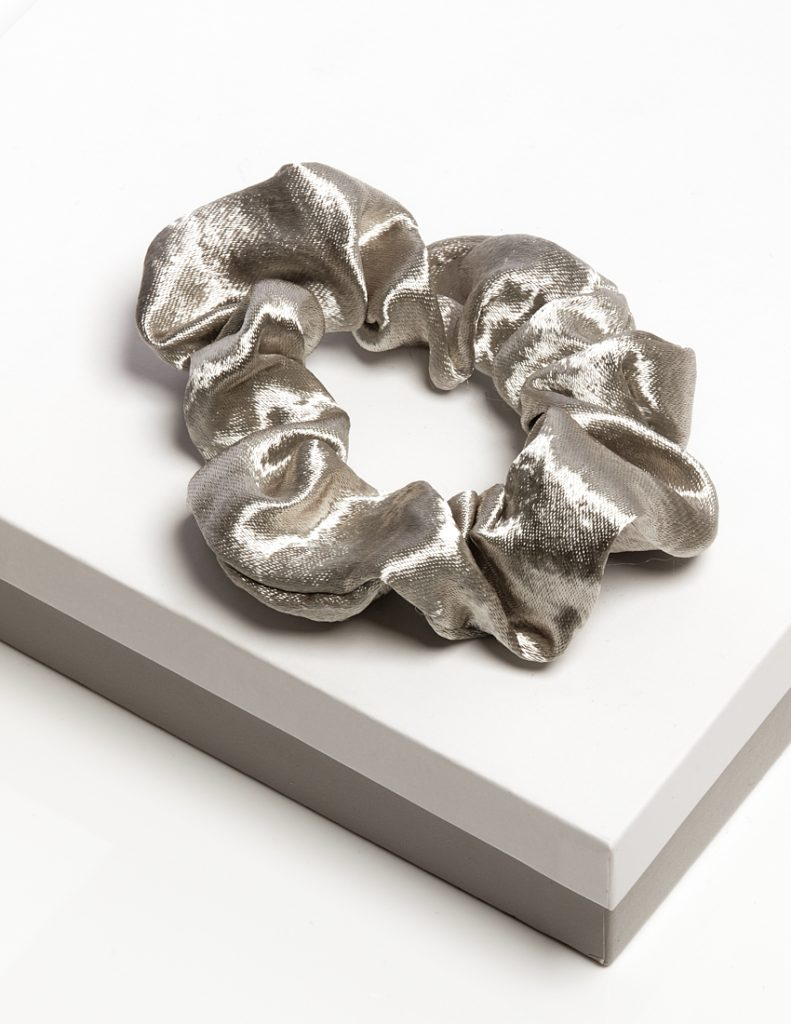 Callel Luxury Grey Satin Hair Scrunchie