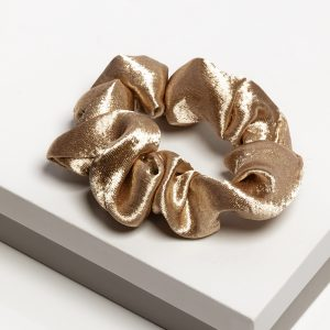 Luxury Champagne Satin Hair Scrunchie