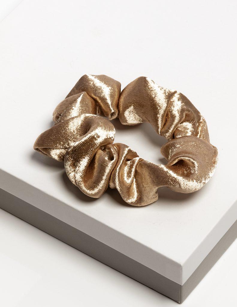 Callel Luxury Champagne Satin Hair Scrunchie