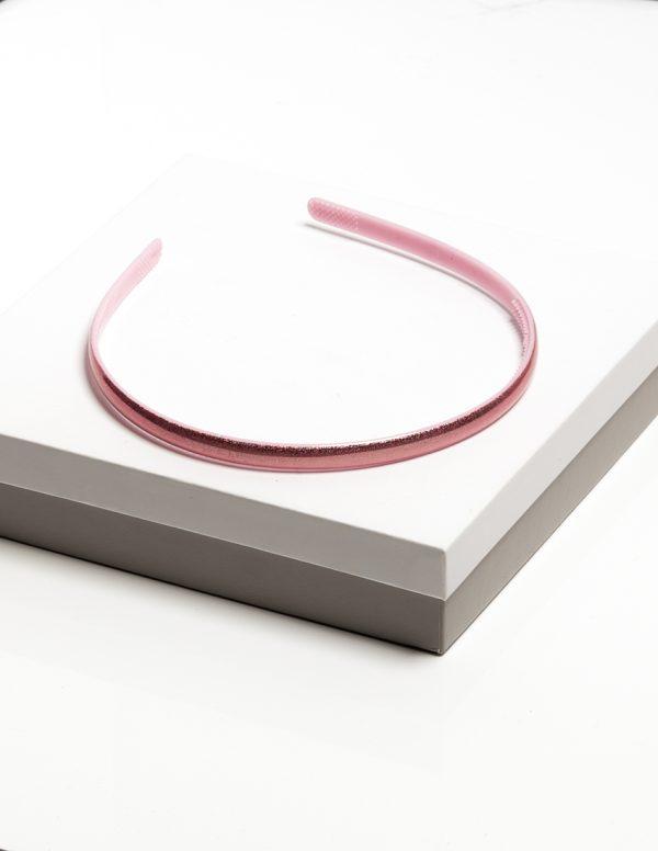 Callel Girls Baby Pink Gloss Plastic Headband