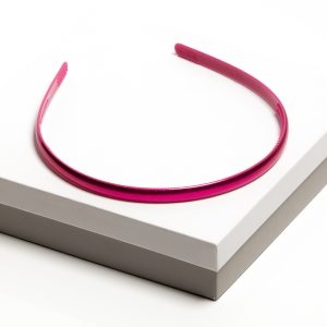 Girls Pink Gloss Plastic Headband