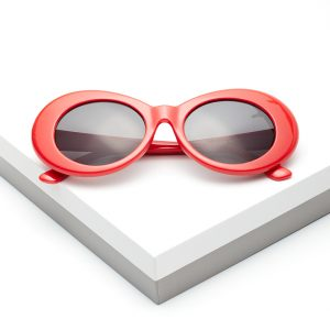 Callel Red Goggle Round Oval Sunglasses