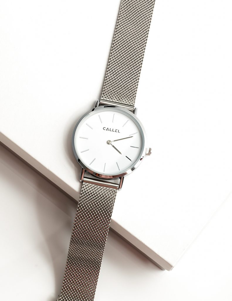 Callel Silver Stainless Steel Watch