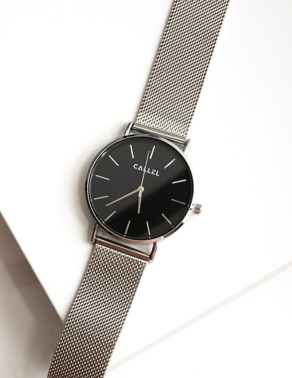 Callel Silver Stainless Steel Mens Watch