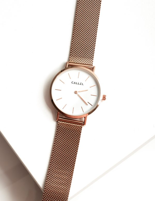 Callel Rose Gold Stainless Steel Watch