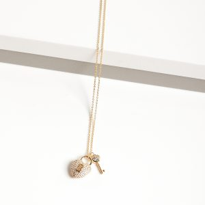 14K Gold Heart Locket Pendant Necklace