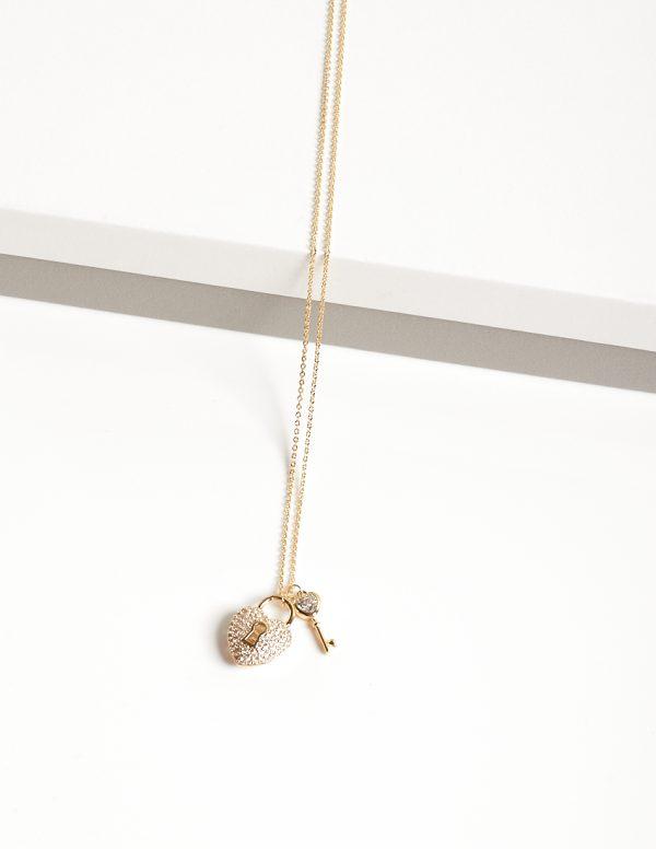 Callel 14K Gold Color Heart Locket Pendant Necklace