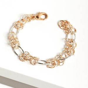 Rose Gold & Silver Heavy Chain Bracelet