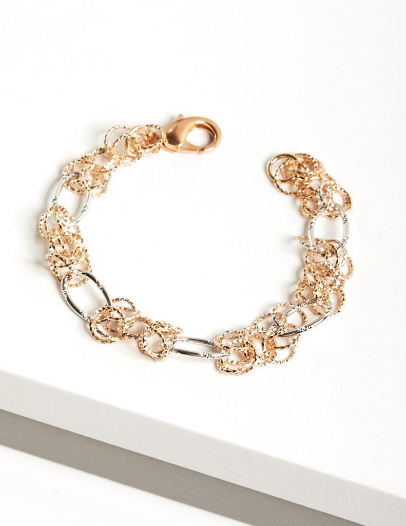 Callel Rose Gold & Silver Heavy Chain Bracelet