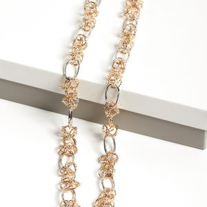 Rose Gold & Silver Heavy Chain Necklace