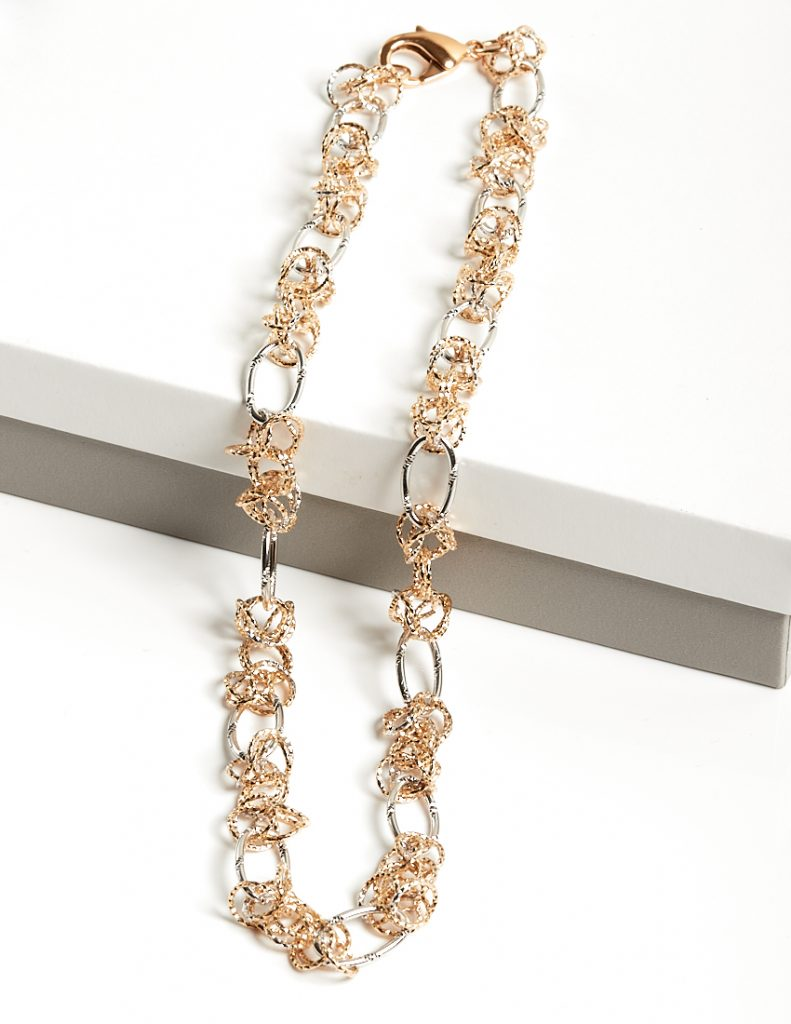 Callel Rose Gold & Silver Heavy Chain Necklace