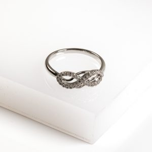 Callel Silver Cubic Zirconia Infinity Ring