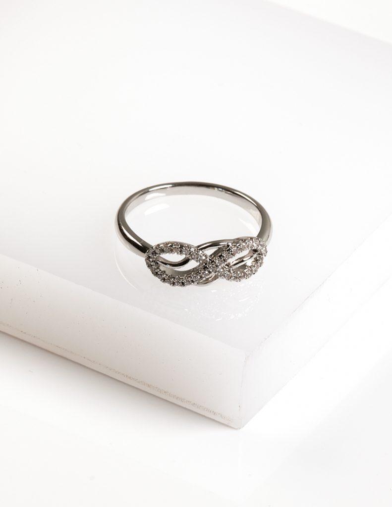 Callel Silver Cubic Zirconia Infinity Ring