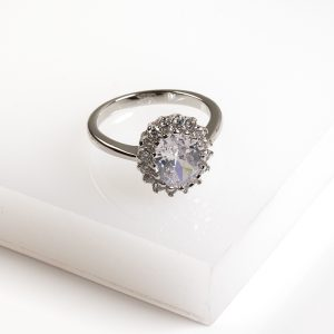 Classic Oval Cubic Zirconia Dress Ring