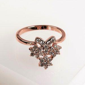 Rose Gold Flower Cubic Zirconia Ring