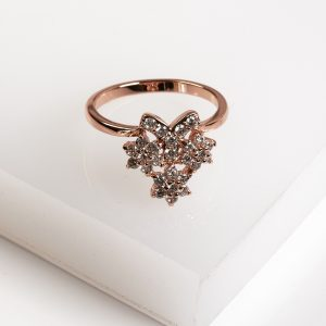 Callel Rose Gold Flower Cubic Zirconia Ring