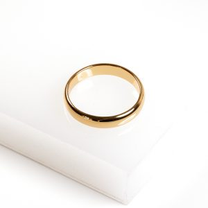 24k Yellow Gold Plain Ring