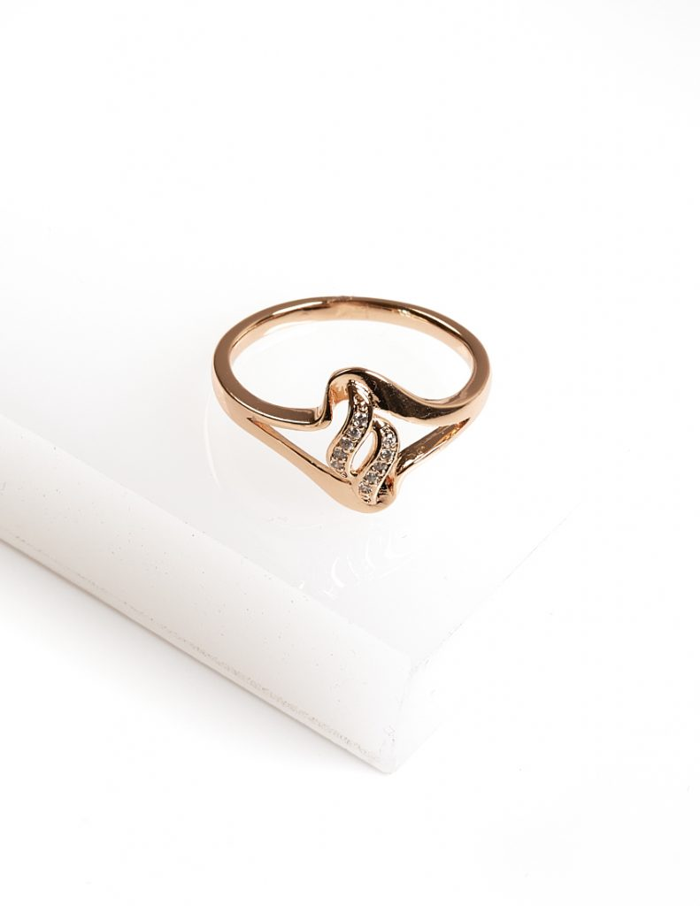 Callel 18K Gold Color Cubic Zirconia Ring