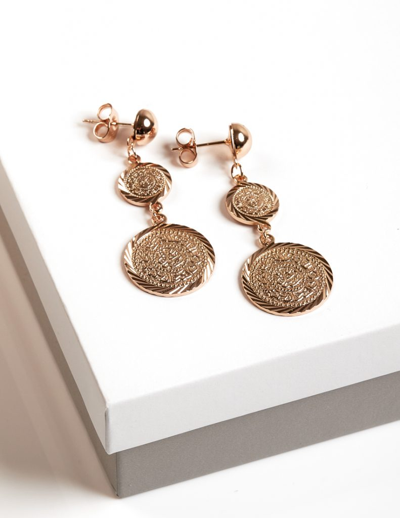 Callel 18K Gold Color Multi Coin Long Drop Earrings
