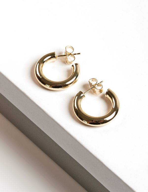 Callel 14K Gold Color Mini Half Hoop Earrings