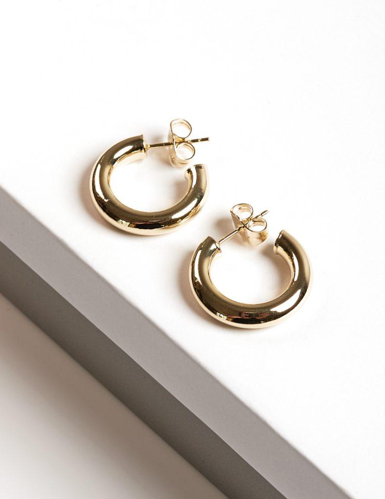 Callel 14K Gold Color Mini Half Hoop Earrings