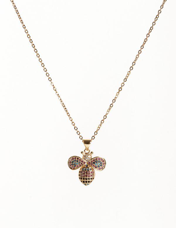 Callel Honey Bee Pendant Necklace