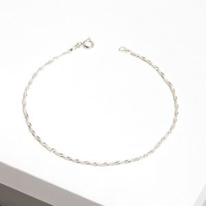 925 Sterling Silver Twisted Chain Bracelet