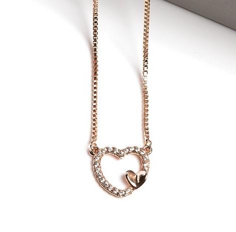 Callel Cubic Zirconia Heart Pendant Necklace
