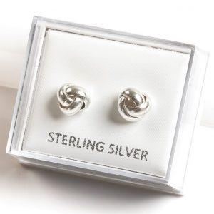 925 Sterling Silver Knot Stud Earrings