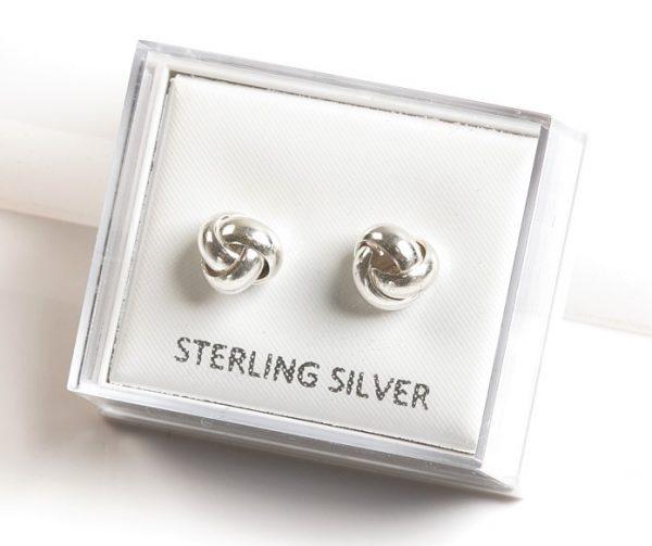Callel 925 Sterling Silver Knot Stud Earrings