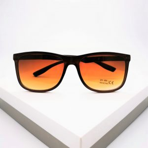 Brown Angled Sunglasses