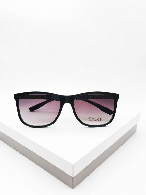 Callel Black Angled Sunglasses