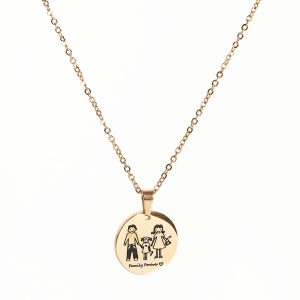 Family Forever Gold Pendant Necklace