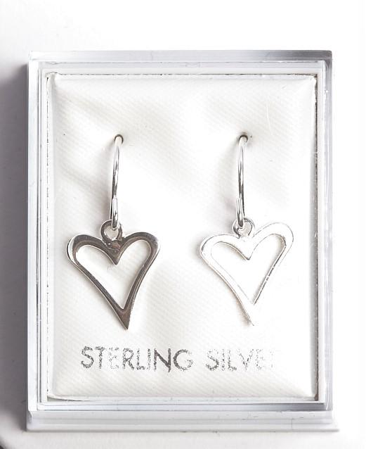 Callel Sterling Silver Heart Hook Drop