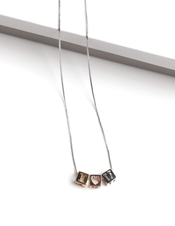 Callel I Love You charm necklace