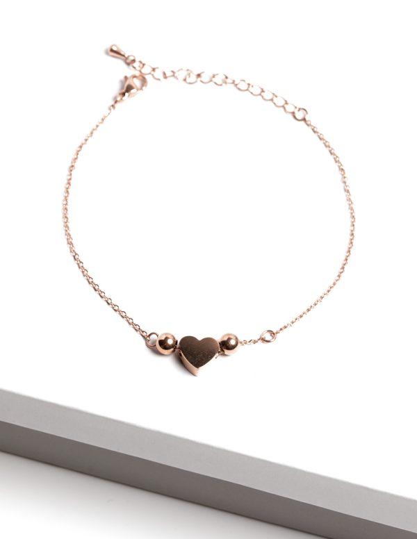 Callel Rose Gold Heart Bracelet