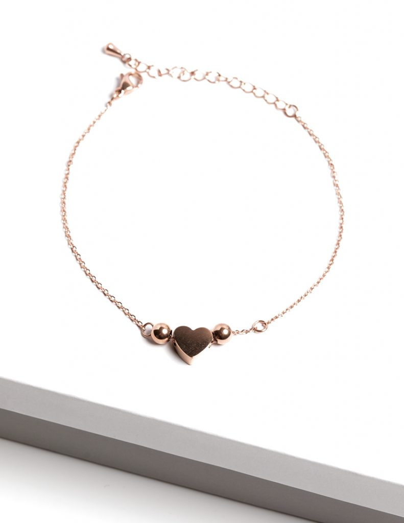 Callel Rose Gold Heart Bracelet