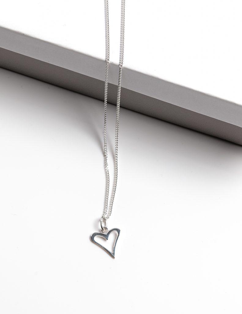 Callel 925 Sterling Silver Ooen Heart Pendant Necklace