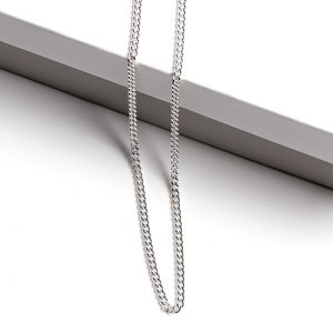 Mens 925 Sterling Silver Curb Chain Necklace