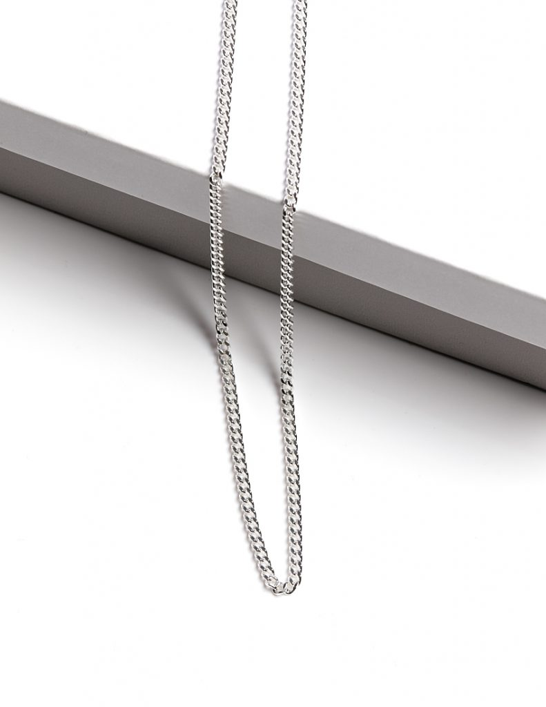 Callel Mens 925 Sterling Silver Curb Chain Necklace