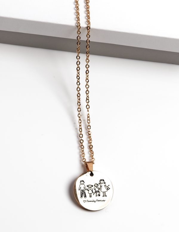 Callel Family Forever Gold Colour Pendant Necklace